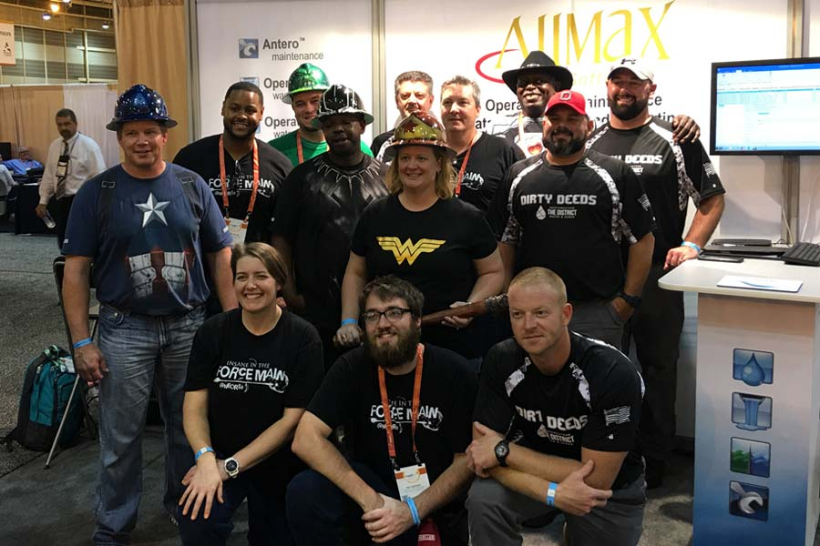 WEFTEC OPS Challenge team in AllMax booth at WEFTEC.
